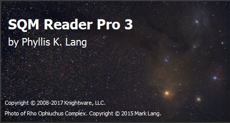 astronomy software SQM Reader Pro